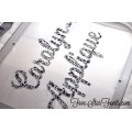 Carolyn Triple Stitch Applique Font